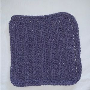 Other - Purple Crocheted All Purpose 100% Cotton Cloth